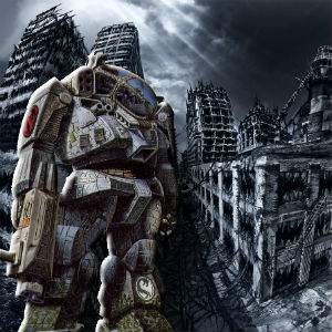 [Image: BattleTech artwork, BLR-1G Battlemaster]